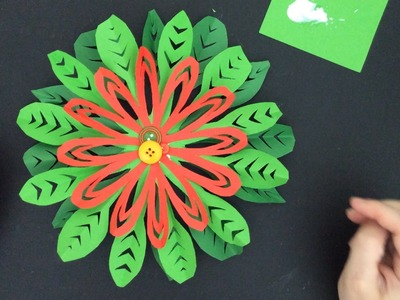 Poinsettia made with paper snowflake technique (DD Day 13)