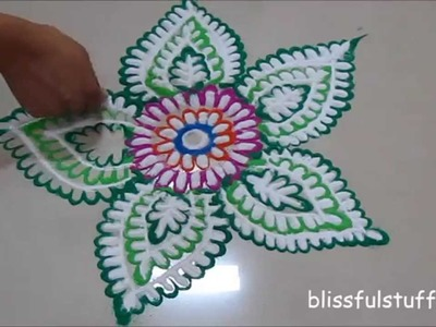 Quick and Easy Rangoli design | Rangoli by Poonam