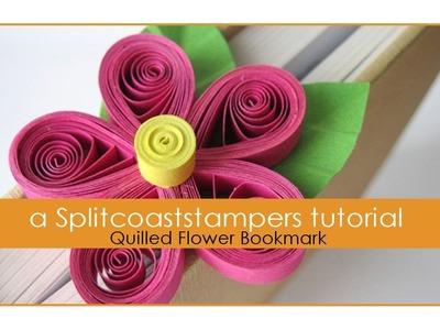 Quilled Flower Bookmark