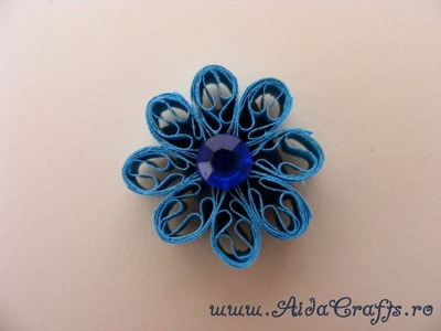 ✿ Quilling - Floare - Tutorial 2 - AidaCrafts