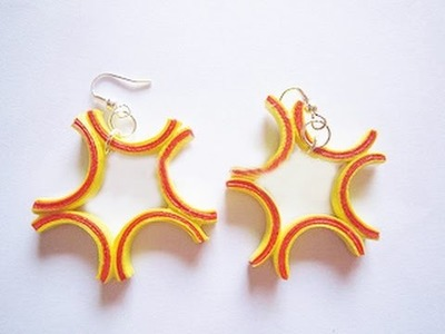 Quilling paper earrings new design | quilling paper Earrings Making Tutorial