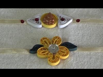 Rakhi Making at Home~Paper Quilling Rakhi~Simple Steps