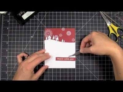 Red & White Transparent Holiday Card