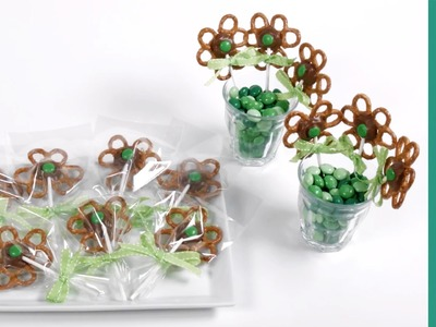 Saint Patrick's Day: How to Make Shamrock Pretzel Pops