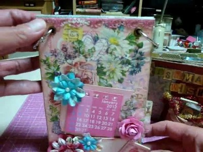 "Scrapbooking ""Christmas paper bag mini album and 2012 Calendar"""
