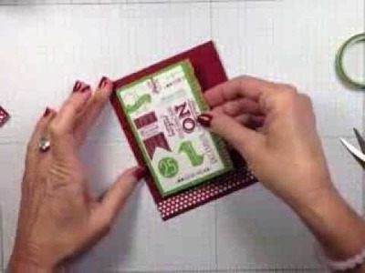Simply Simple FLASH CARD - Subway Style Holiday by Connie Stewart