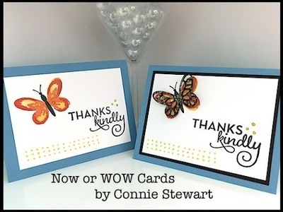 Simply Simple Now or WOW - Watercolor Wings Card by Connie Stewart