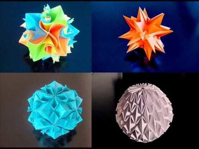Some of my Favorite Origami Models and Instructions on How To Make them!!! :D