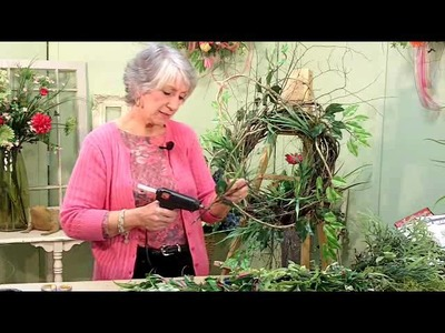Video 3 - Wreath Tips With Nancy: Door Wreath From Start to Finish (Greenery)