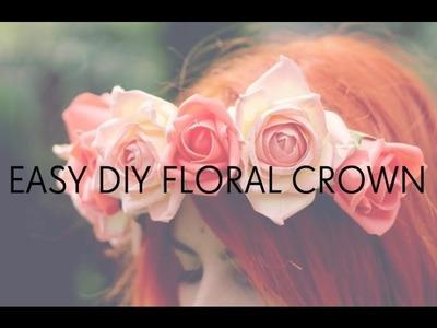 10 MINUTE FLORAL CROWN DIY