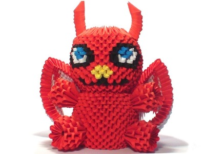 3d origami devil tutorial
