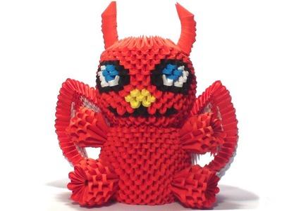 3d origami devil tutorial