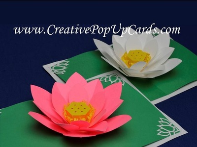 Amazing Mother's Day Lotus Flower Pop Up Card