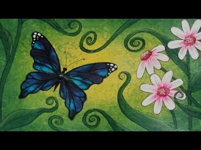 Art Journal Page : Big Butterfly (part 2 of 2)