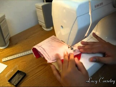 Corset Making: Stitching panels together | Lucy's Corsetry