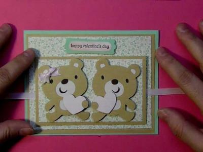 Cricut Create A Critter 2 series Valentine Teddy Bears card #5 cutecardsbychris