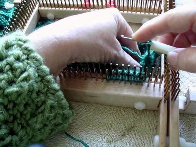 Crochet bind off small gauge kiss loom