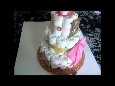 D.I.Y: My 1st Diaper Cake