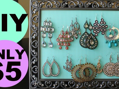 DIY Earring Holder for $5! SUPER Easy and cute! | Jordan Cheyenne