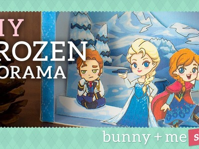 DIY Frozen Diorama - Paper Craft Tutorial