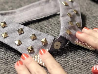 DIY: Studded & Embellished Collar