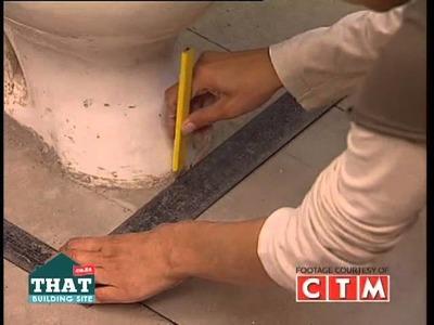 DIY TILING | tiling around a toilet base