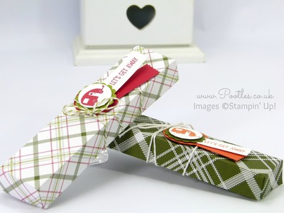 Fold Flat Summer Camping Candle Box using Christmas Paper