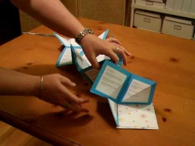Folding an accordion-style book by Crafty Nest