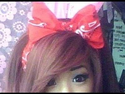 How to: Bow headband using a bandanna
