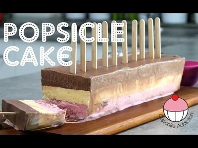 How to Make a Popsicle Ice Cream Cake! By Cupcake Addiction