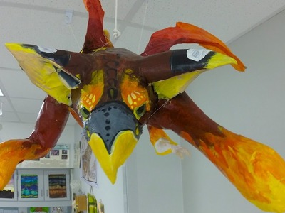 How to Make Paper Mache Alebrijes - Step Four (Painting)