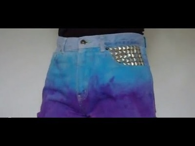 How to Ombre Dye Denim