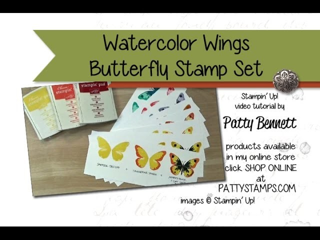 How to Stamp Watercolor Wings Butterfly Set from Stampin' Up!