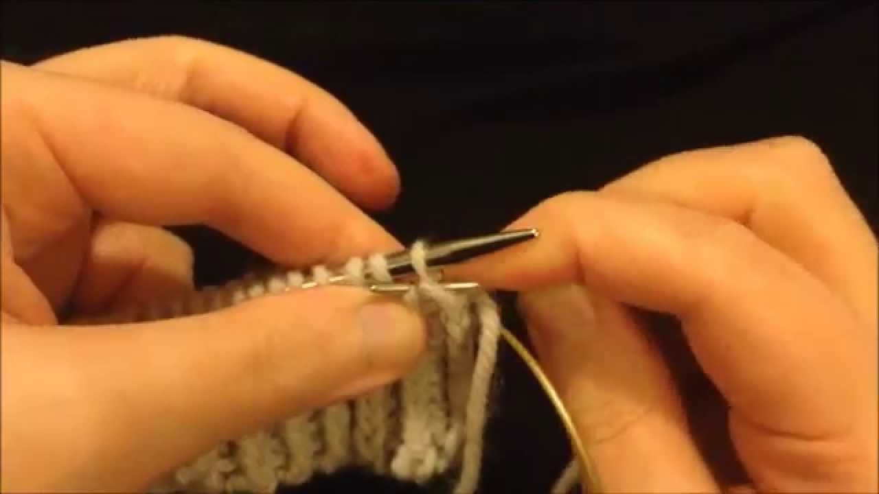 Kitchener Sewn Bind-Off on One Needle