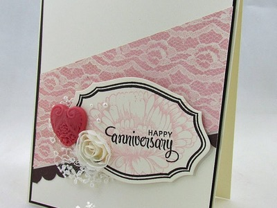 On Trend Paper Crafting with Diagonal Lines with Catherine Pooler