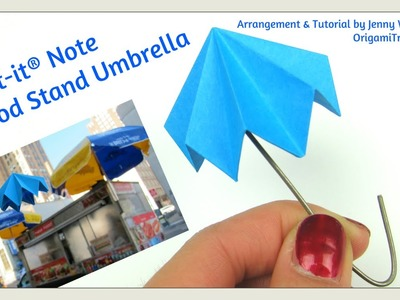 Post-it® Note Crafts - Origami Umbrella | Paper Crafts