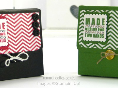 Post It Pouches in School Colours Tutorial