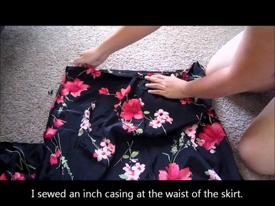 Revamped Sleeveless Floral Babydoll Dress - Thrifty Project