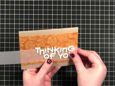 Thinking of You (Punched Circles Background) - Make a Card Monday #148