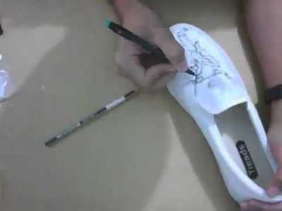 "Timelapse shoe painting ""My Chemical Romance shoes"""