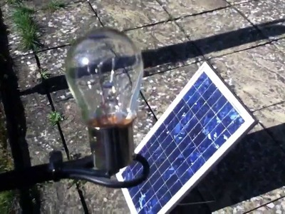 20W Solar Panel. 21W Bulb - A Perfect Match? (part 1)