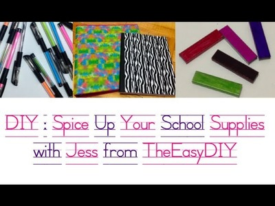 Back to School Supply DIY & Makeup Collab feat. MsADonnelly
