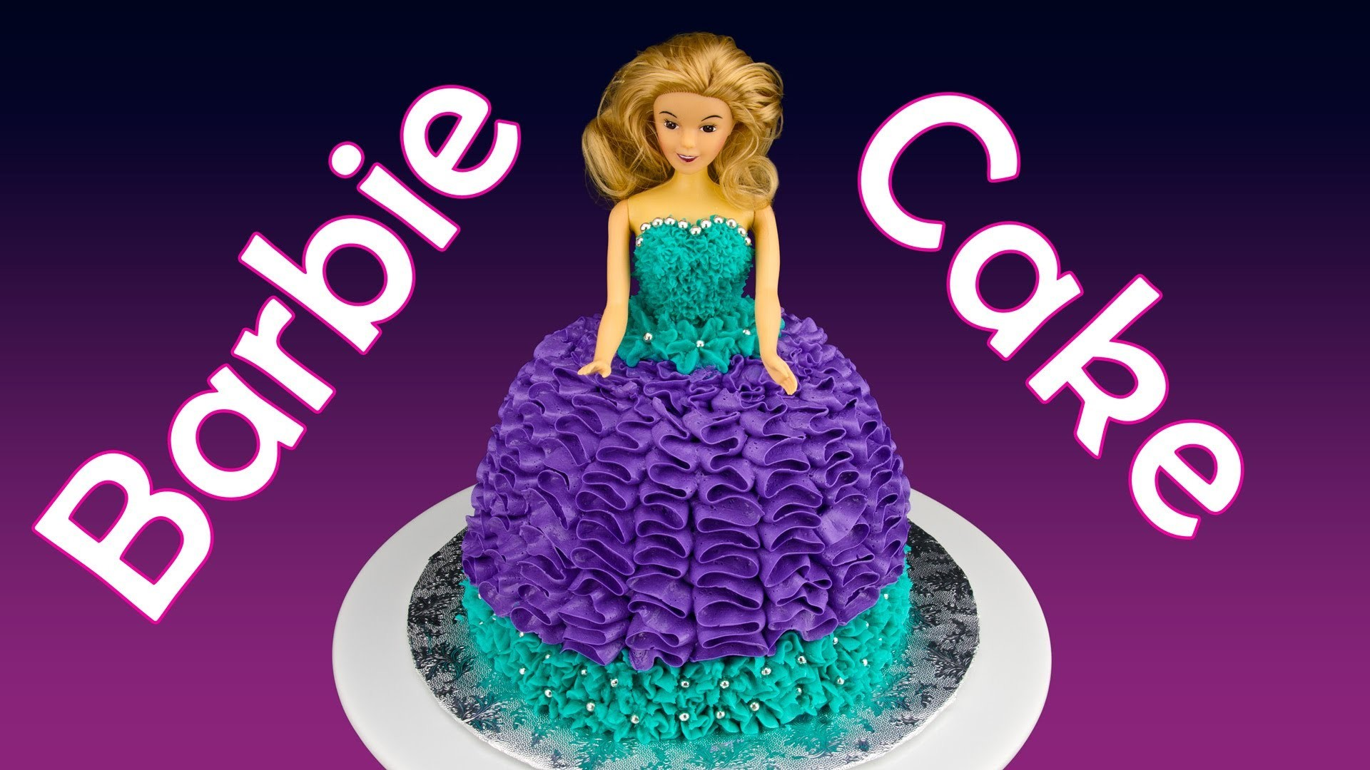 Barbie Cake. Princess Cake: How to Make a Barbie Cake by Cookies Cupcakes and Cardio