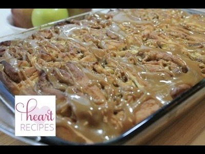 Caramel Apple Cinnamon Rolls | I Heart Recipes