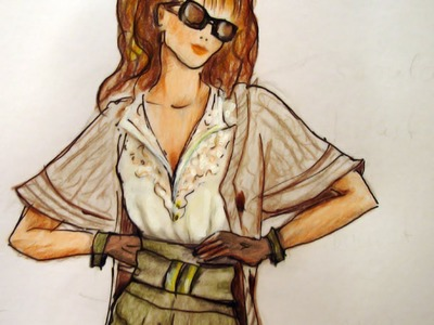 City Look: Advanced Fashion Design Drawing Tutorial