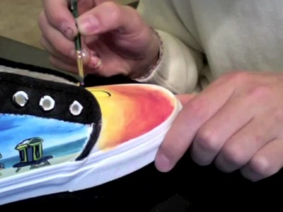Custom Painted Shoes - EnHaoKicks Miami Miami Vans