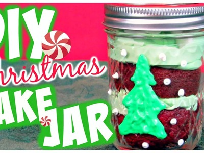 DIY Holiday Treat. Christmas Cake Jars