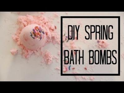 Diy spring bath bomb | gracestellabeauty