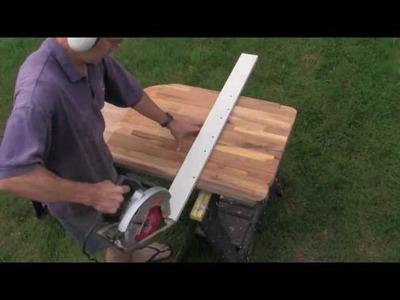 Easy Ikea Butcher Block Countertop Cutting Technique