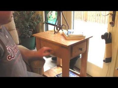Handmade End Table. Nightstand with Secret Hidden Compartment for Handgun, Pistol, Revolver